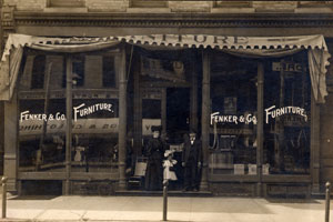 Fenker's Furniture - 1st Location at 709-711 Main Street (Now Lincolnway) Presently Antique Junction Mall