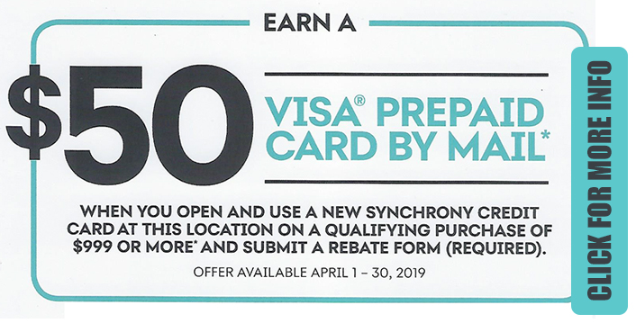 Earn a $50 Visa Prepaid Card by Mail with Eligible Purchase