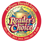 Fenker's Furniture is a Reader's Choice Award Winner for 2011, 2012, 2013, 2014 and 2016, as award by the LaPorte Herald-Argus